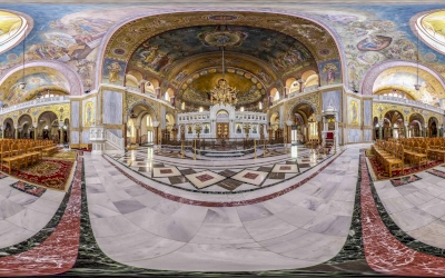 Panoramic photo of Saint Andrew at Patras.