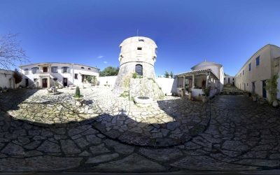 Panoramic picture or panorama of Agios Georgios ton Krimnon at Zakynthos .